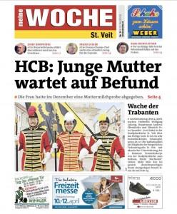 Titielblatt Kärntner Woche 14/2015, S.1