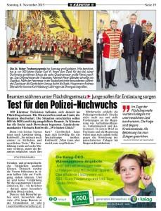 Kronen Zeitung, 08.11.2015, S.18