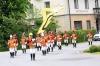 Die Trabantengarde marschierend in voller Pracht