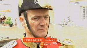 Unser neuer Leutnant Franz Sattler im Fernsehen